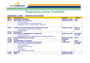 Programma Career Transition MAANDAG 31 MEI – AVENTUS