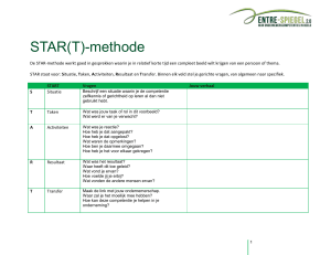 STAR(T)-methode - ENTRE
