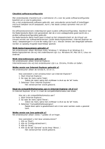 Checklist softwareconfiguratie