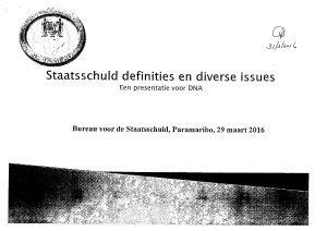 Staatsschuld definities en diverse issues