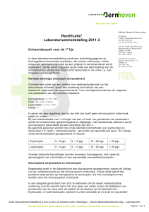 2011-3 urineonderzoek 1e lijn - Bernhoven Diagnostisch Centrum