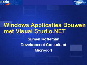 Windows Applicaties Bouwen met Visual Studio.NET