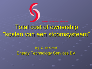 "Total cost of ownership ""kosten van een stoomsysteem"""