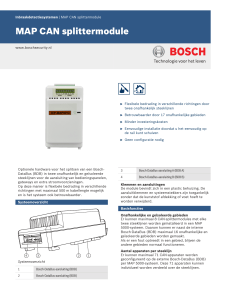 MAP CAN splittermodule - Bosch Security Systems