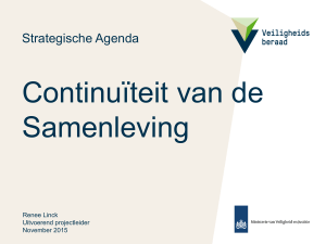 Project *titel - Strategische Agenda