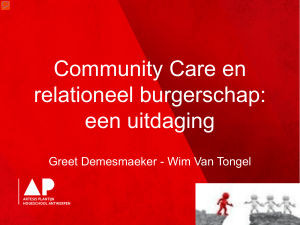 Community Care en relationeel burgerschap