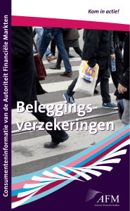 Beleggings- verzekeringen Beleggings- verzekeringen
