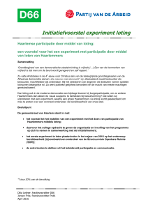 Initiatiefvoorstel experiment loting