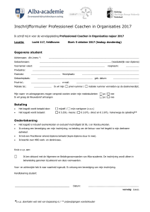Aanmelding Meesterschap in Management - Alba