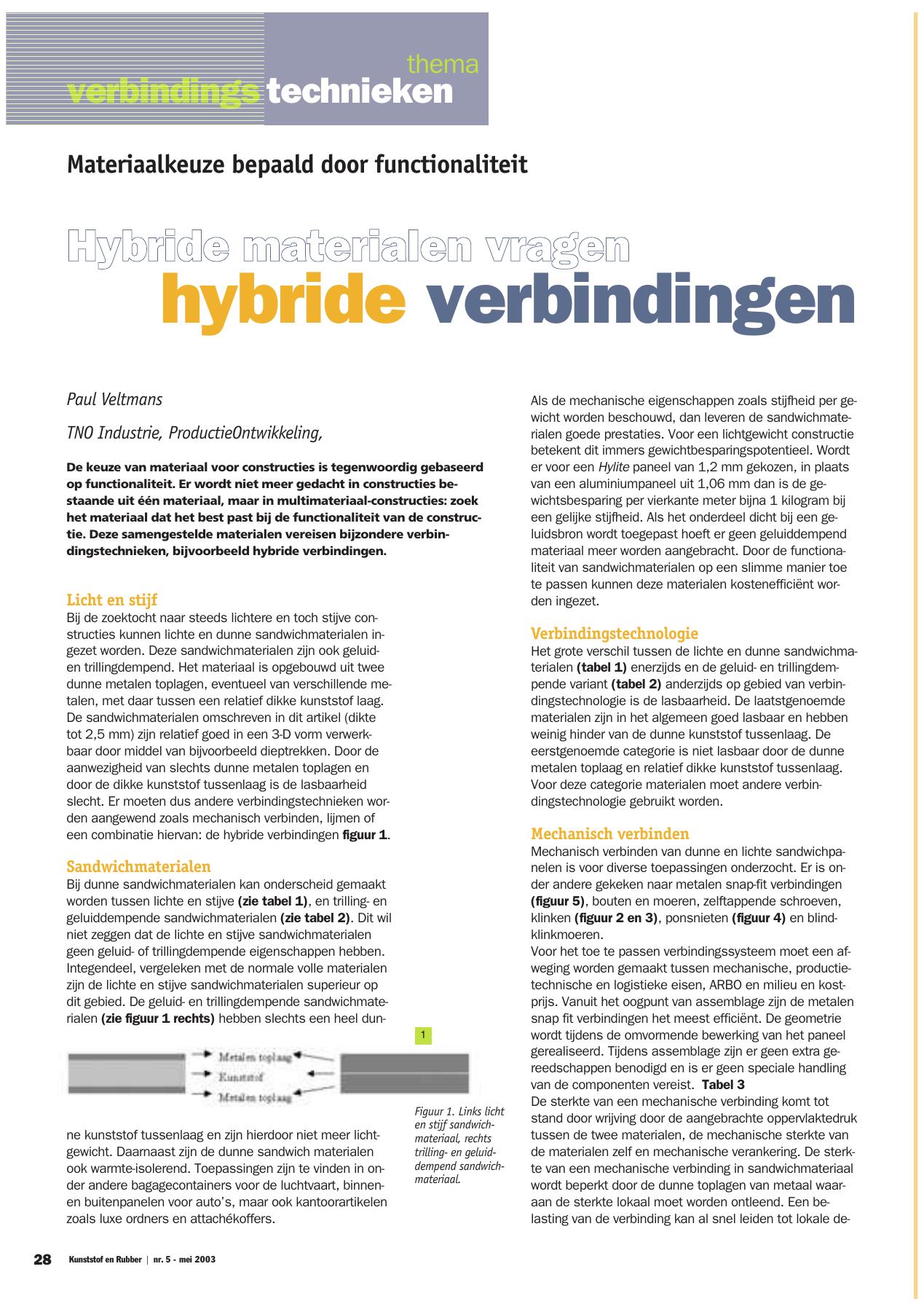 Hybride Verbindingen