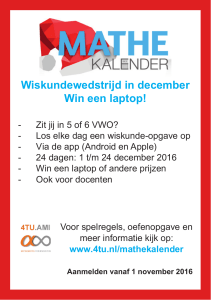 Wiskundewedstrijd in december Win een laptop!