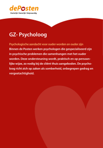 GZ- Psycholoog
