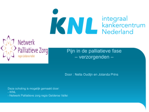 Pijn in de palliatieve fase 5 april 2016