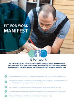 manifest - Fit for Work