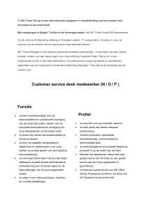 Customer service desk medewerker (N / D / F )
