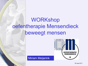 Marfan syndroom en Mensendieck Therapie