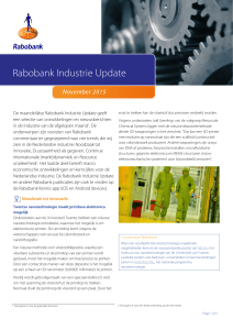 Industrie Update, november 2015