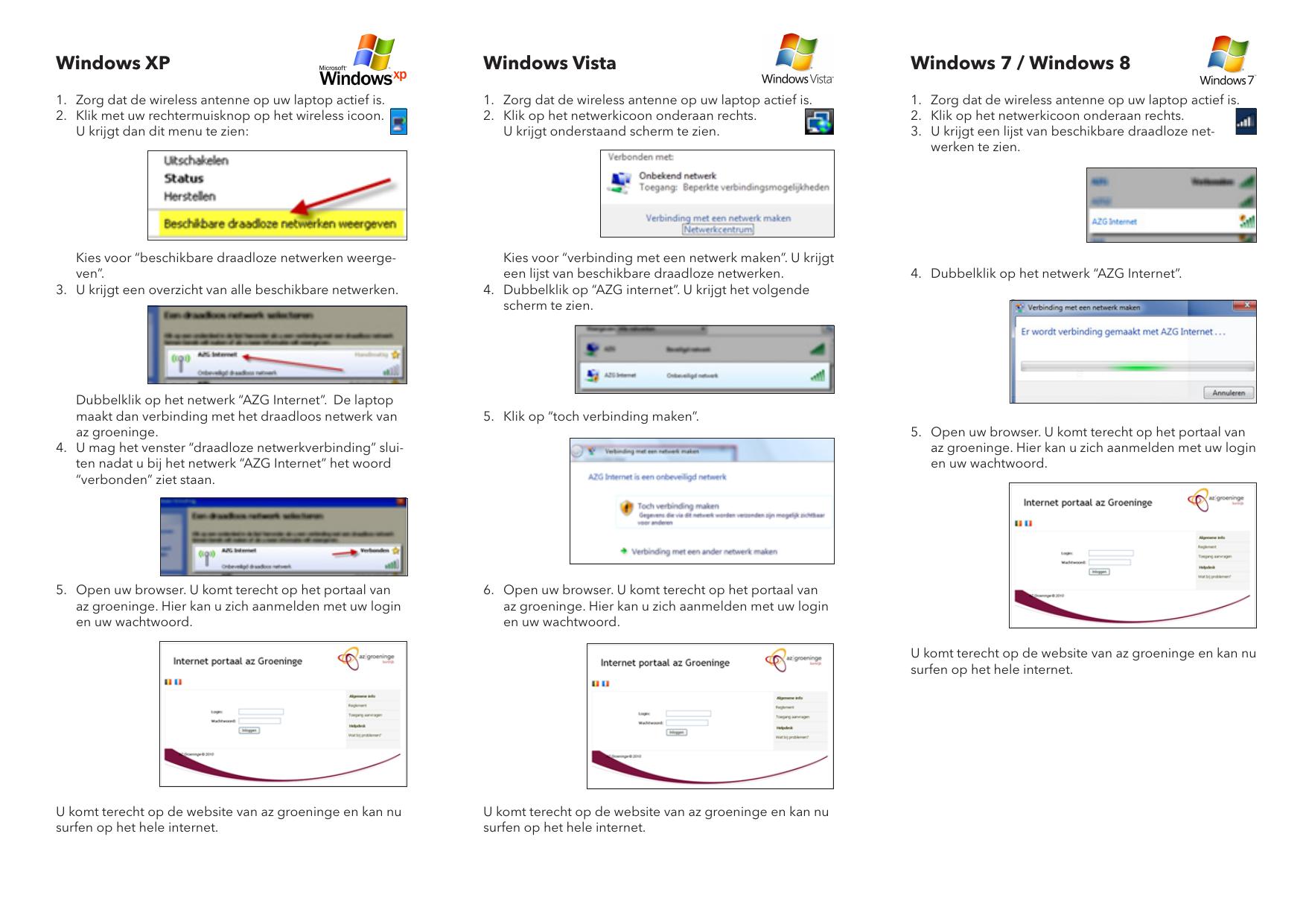 Windows Xp Windows Vista Windows 7 Windows 8