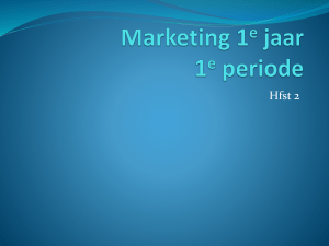 marketing 1e jaar 2016 hfst 2 marketingcyclys klad b