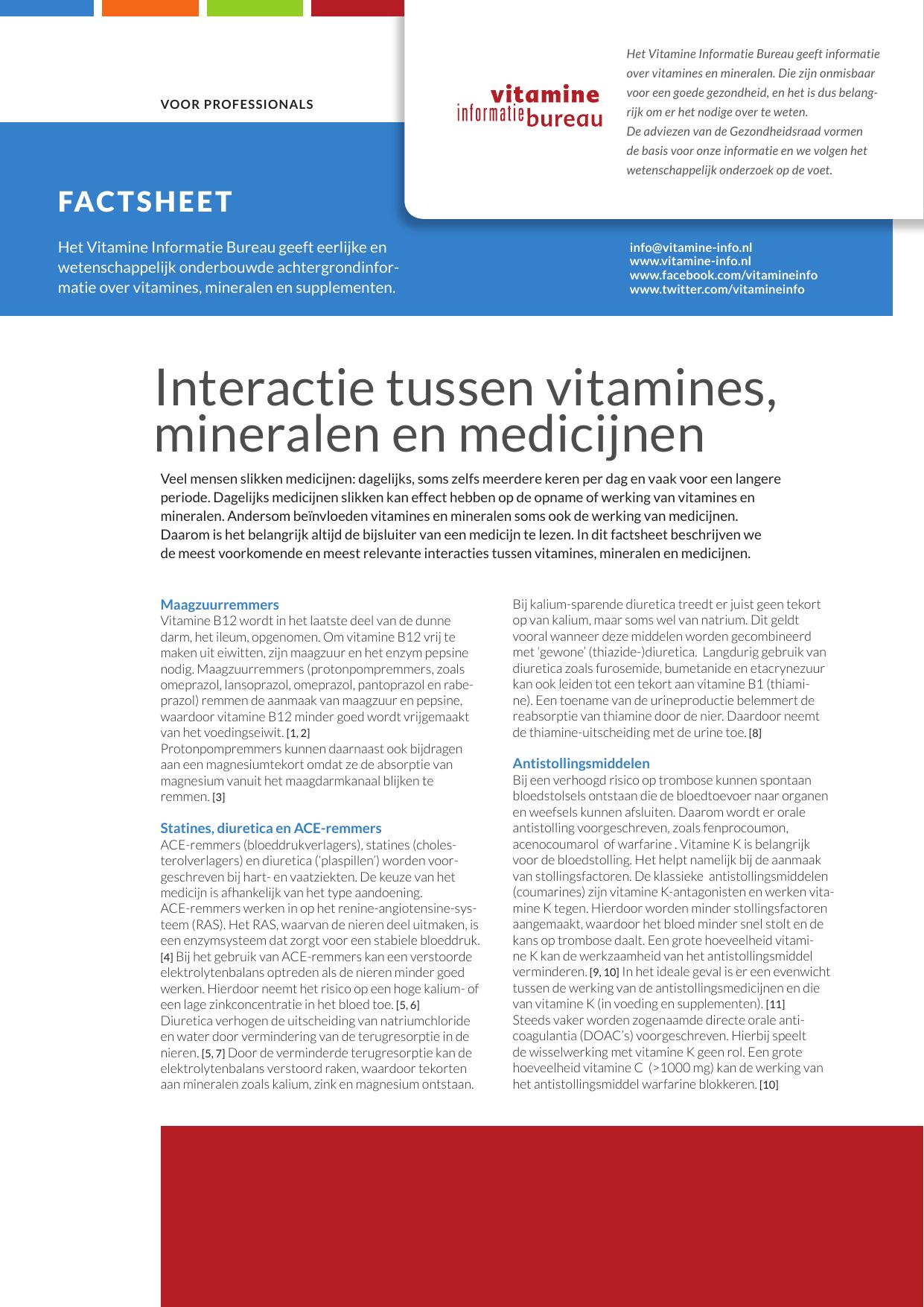 vitamine en mineralen tekort