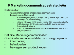 09 Marketingcommunicatie strategie