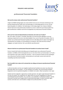 professioneel financieel handelen