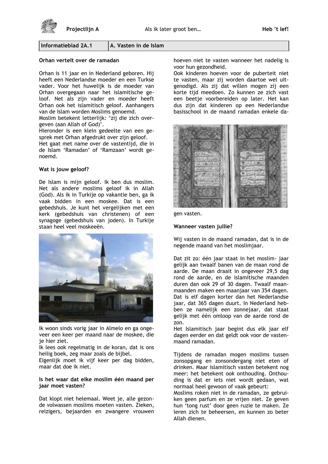 Informatieblad 2A 1 A – E