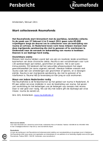Persbericht start collecteweek 2011