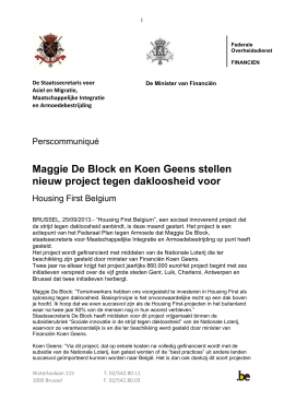 25-09-2013 – NL – Housing first perstekst