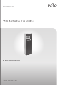 Wilo-Control SC-Fire Electric