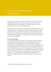 3 de vijf communicatie- elementen