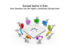Sociaal teams in Ede