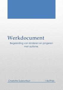 Werkdocument - Autismespectrumstoornissen