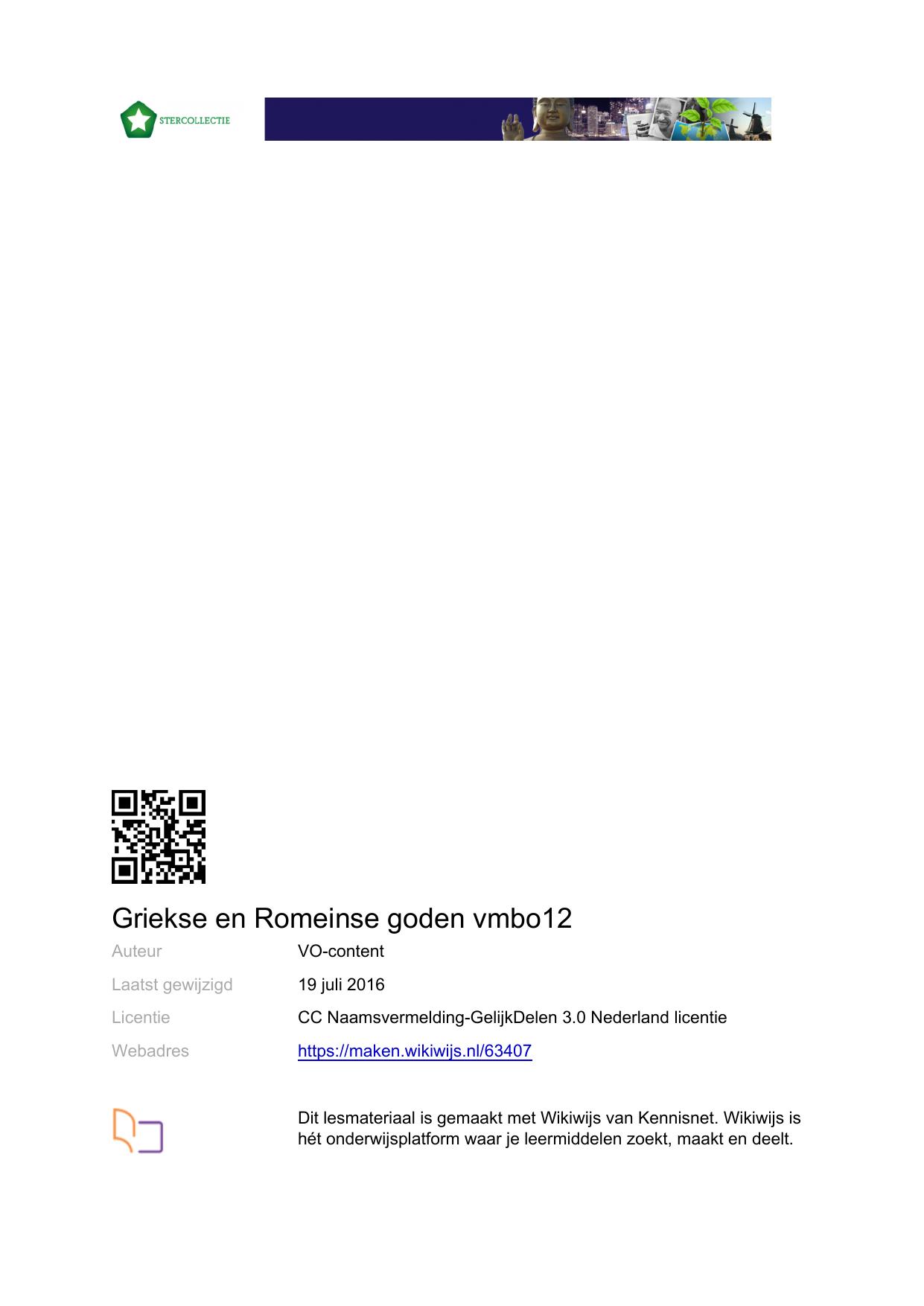 Wonderbaarlijk Griekse en Romeinse goden vmbo12   PDF-versie BU-98
