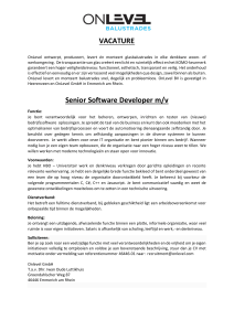 VACATURE Senior Software Developer m/v