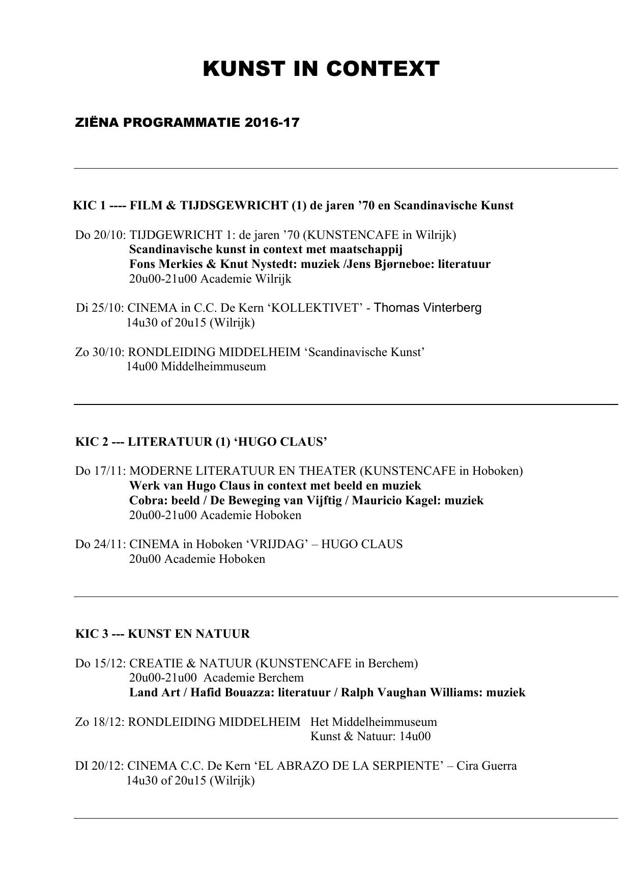 ziëna programmatie 2016-17