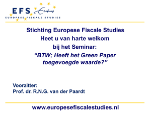 BTW - Europese Fiscale Studies