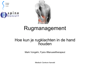 Rugmanagement - Spine Consult Heerlen
