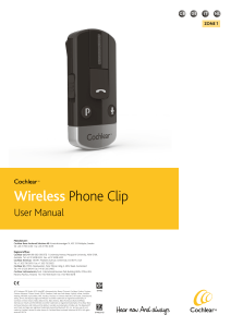 Wireless Phone Clip