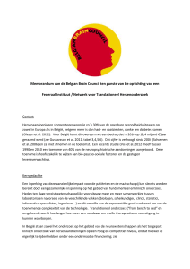 Memorandum van de Belgian Brain Council ten gunste van de