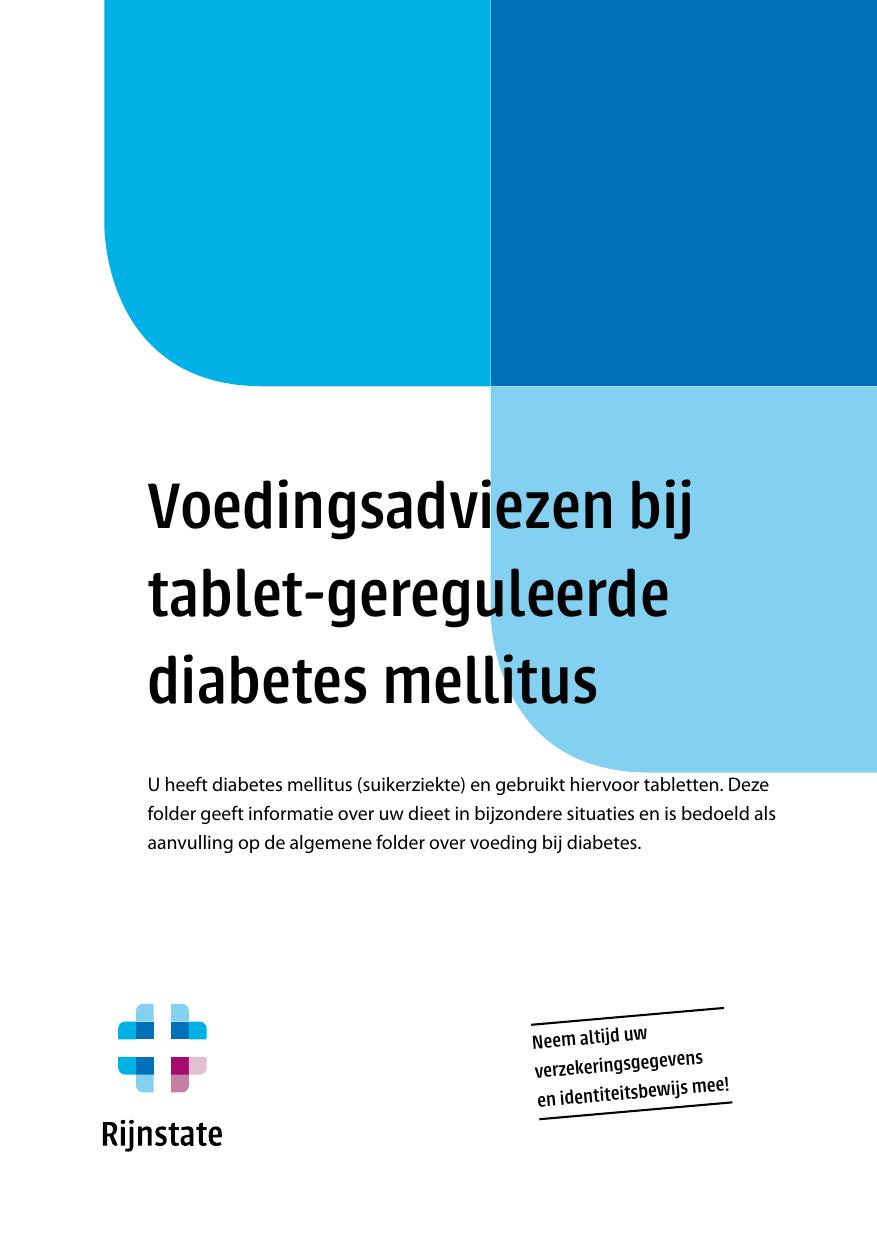diabetes dieetlijst