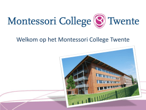Montiplanner begin - Montessori College Twente