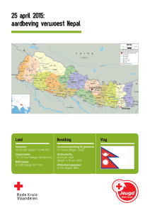 25 april 2015: aardbeving verwoest Nepal