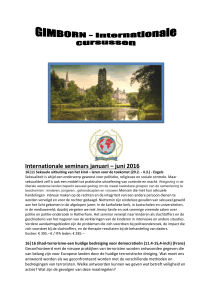 Internationale seminars januari – juni 2016