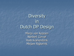Diversity in Dutch DP Design