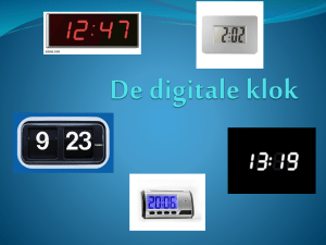De digitale klok