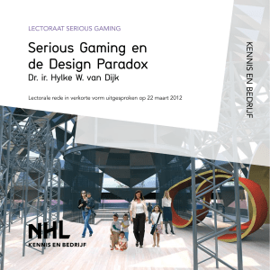 Serious Gaming en de Design Paradox