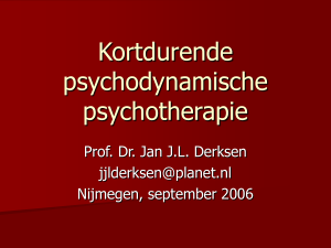 Psychodynamische Psychotherapie: State of the Art