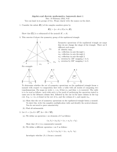 Algebra and discrete mathematics, homework sheet 1 Due: 18