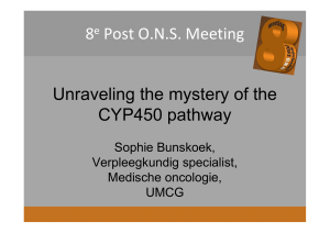 8e Post ONS Meeting Unraveling the mystery of the CYP450 pathway